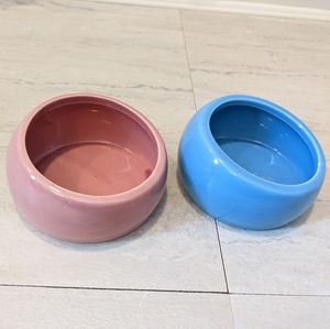 Two ceramic food dishes
